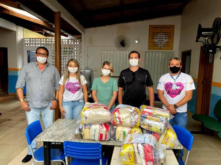 Mais três entidades são contempladas com doação de cestas básicas, pelo núcleo da CDL